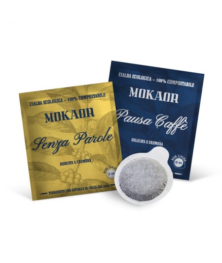 Pausa Caffè + Caffè Senza Parole - 200 Mixed ESE 44 Pods Mokaor