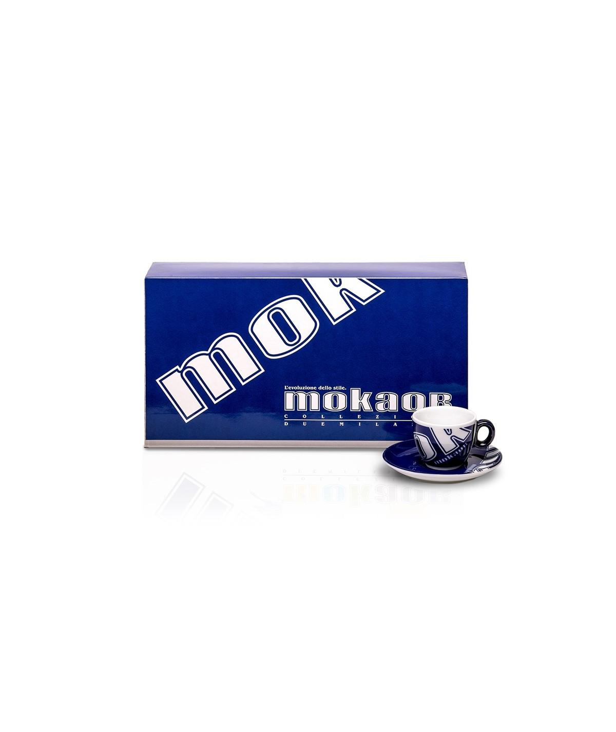 SET 6 Tazzine blu caffè Mokaor - Collezione DuemilaSei - Edizione Limitata